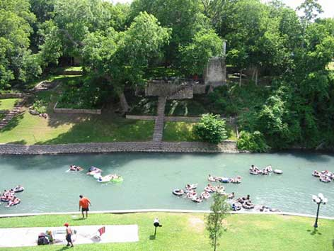 View of the Comal river from unit A116.